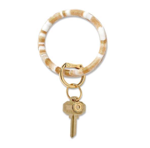 Silicone Big O Key Ring - Gold Rush Marble