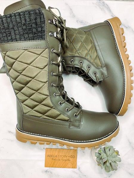 Polar Boots - Olive *Final Sale*