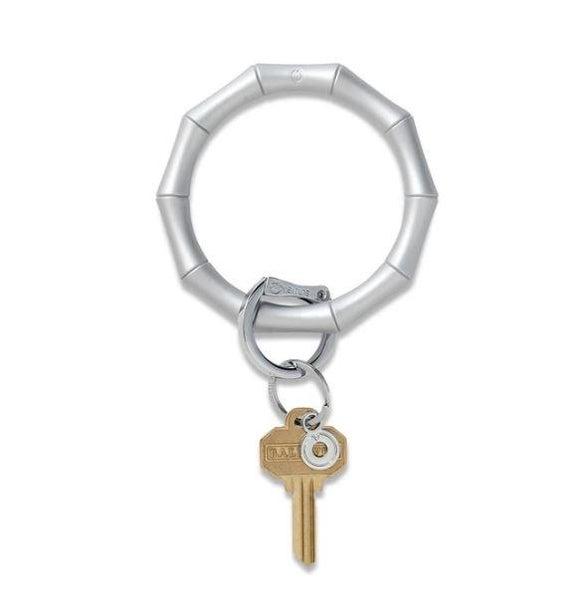 Silicone Big O Key Ring - Quicksilver Bamboo