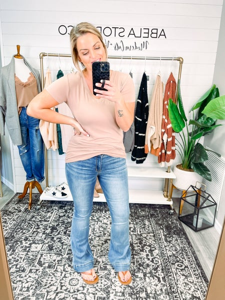 Made for You Judy Blue Mid Rise Trouser Flare Jeans (Plus + Reg) *Final Sale*