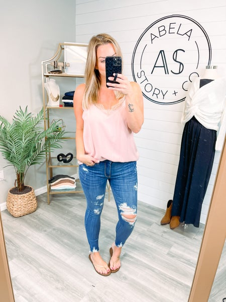 Hold Your Attention Judy Blue High Rise Cropped Skinny Jeans (Plus + Reg)