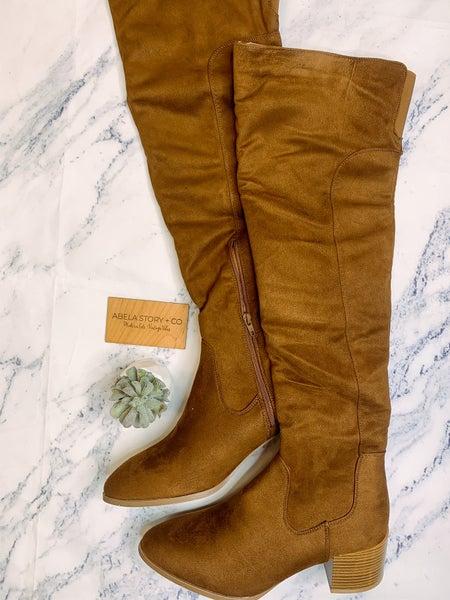 Catherine Suede Zip Up Boots - Brown
