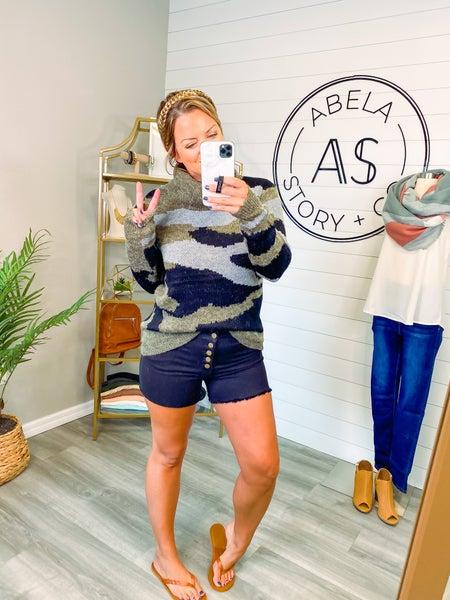 Abela Get in Line Cut Off Shorts  - Black (Plus + Reg) *Final Sale*
