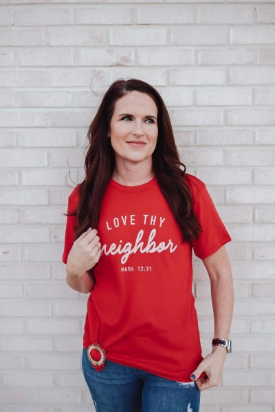 Love Thy Neighbor Graphic Top
