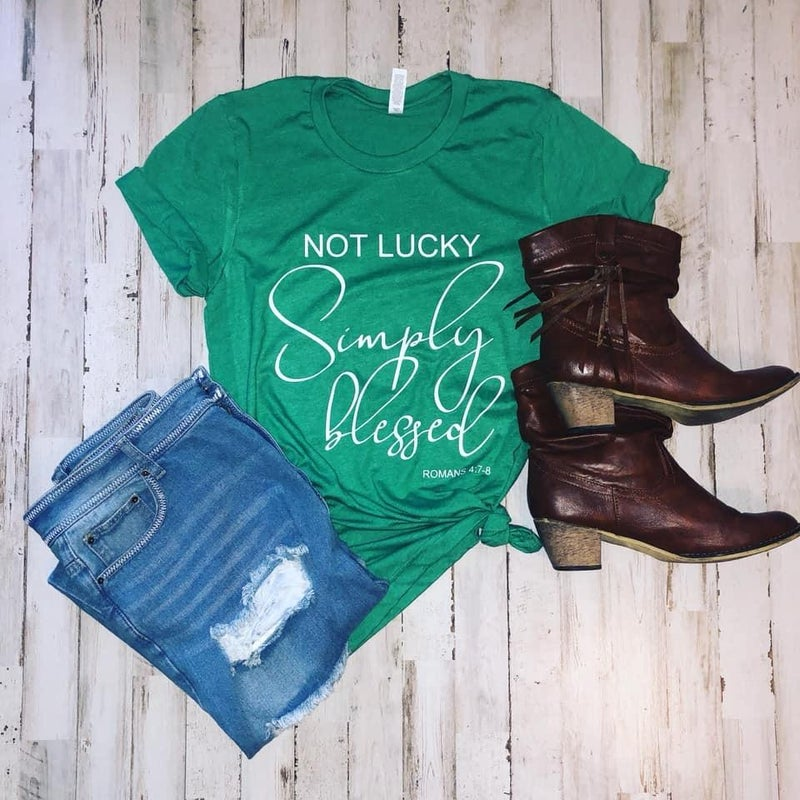 Not Lucky Simply Blessed Tee
