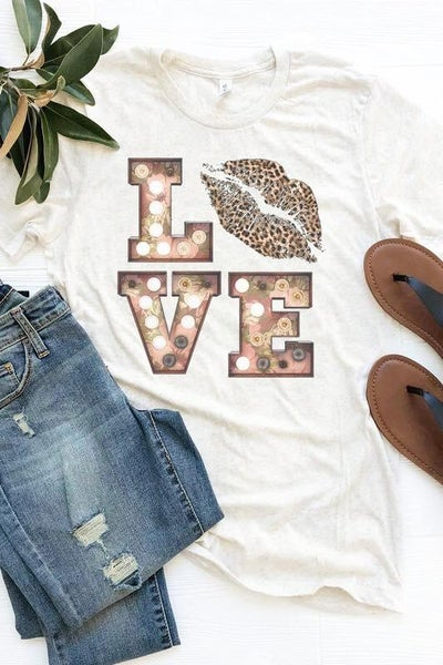 Love Leopard Lips Tee