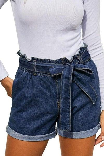 Denim Paperbag Shorts