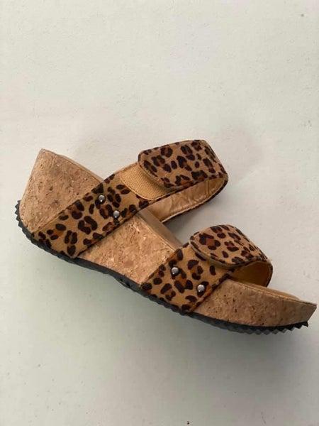 Cedar Leopard Sandal