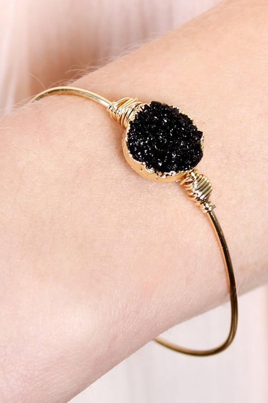 Druzy Wired Bracelet
