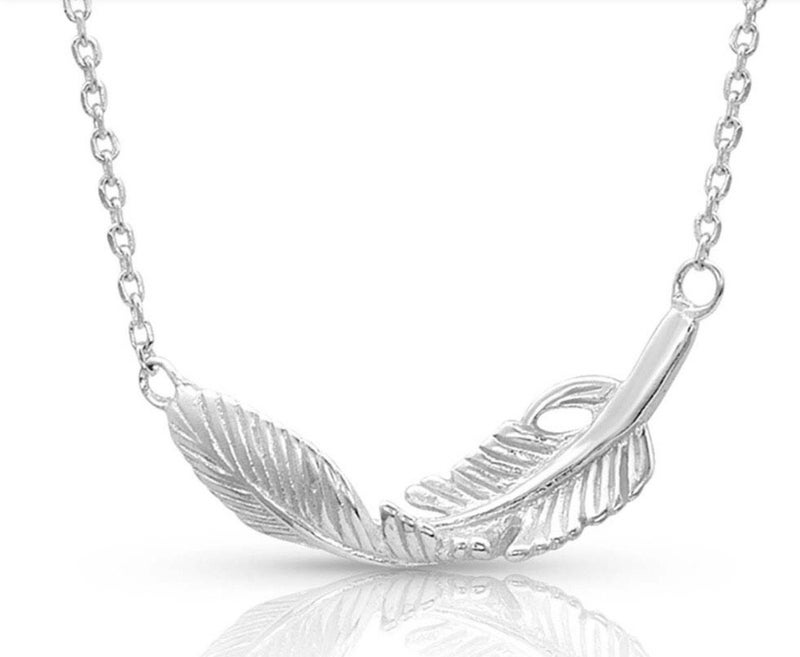 Turning Feather Necklace