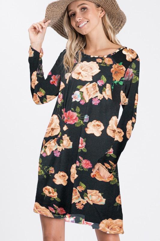Midnight Bouquet Dress
