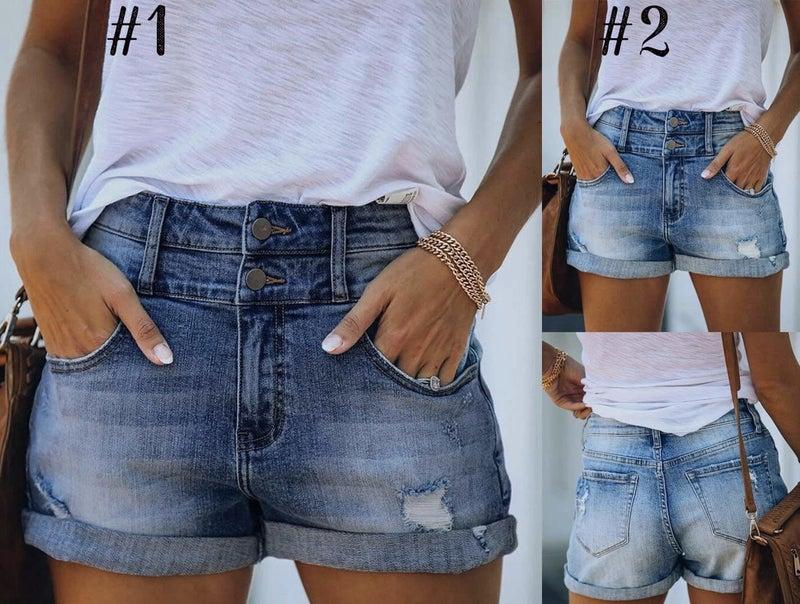 Double Up Denim Shorts
