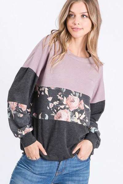 Dusty Floral Sweatshirt