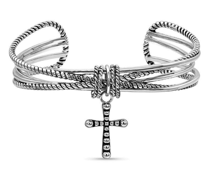 Faith On A Loop Cross Bracelet