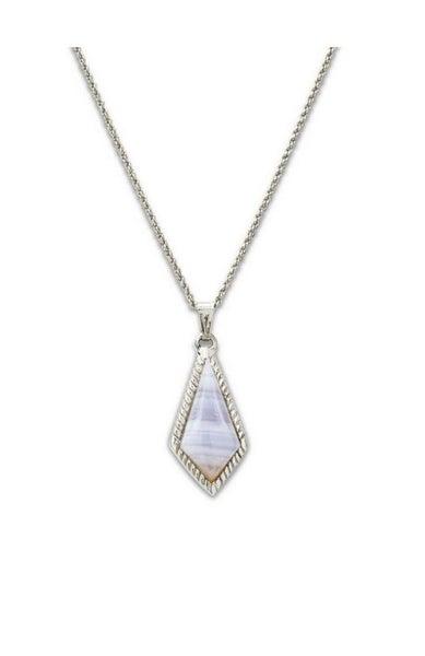 Blue Lace Agate Sloane Slider Necklace