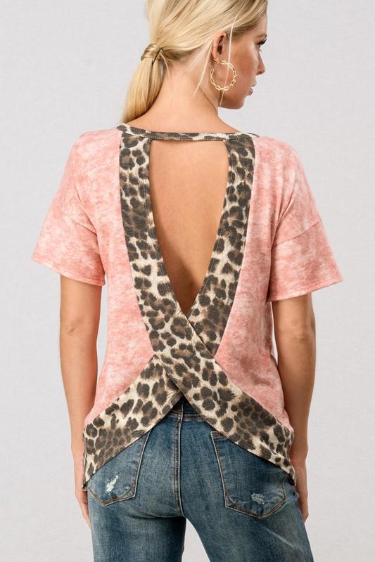 Leopard Open Back Top