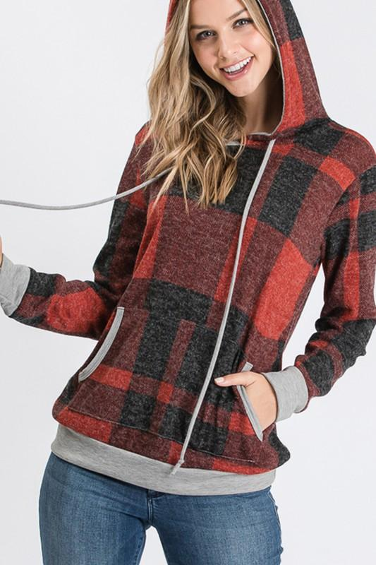 Checked For Fall Hoodie
