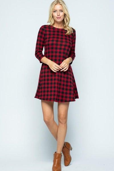 Mini Buffalo Check Dress