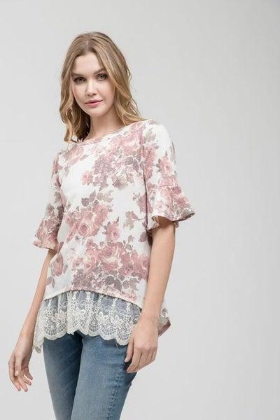Lace & Floral Top