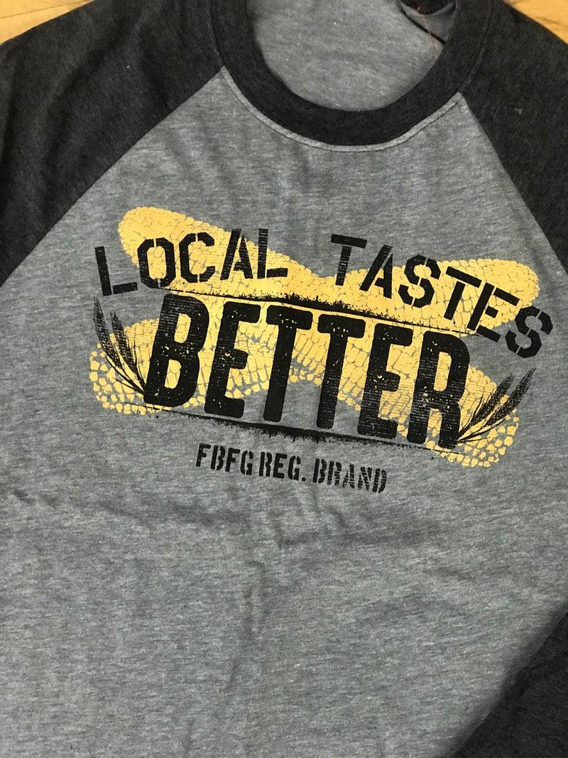 Local Taste Better Baseball Tee