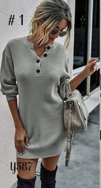 Just Stop Sweater Dress