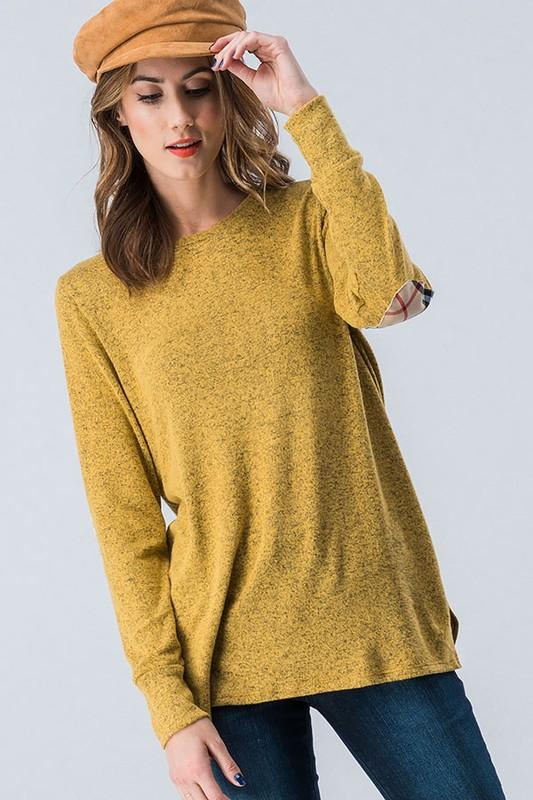 Elbow Patch Top