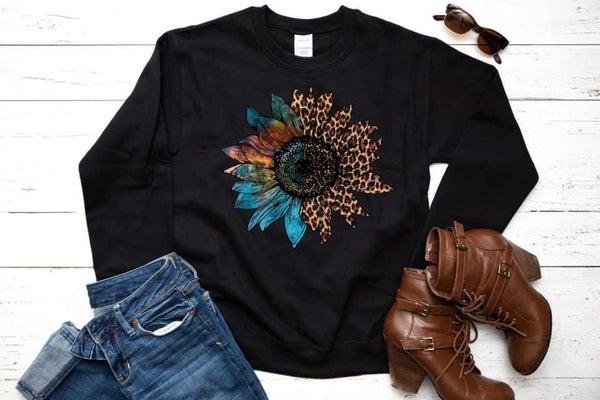 Leopard Sunflower Sweatshirt