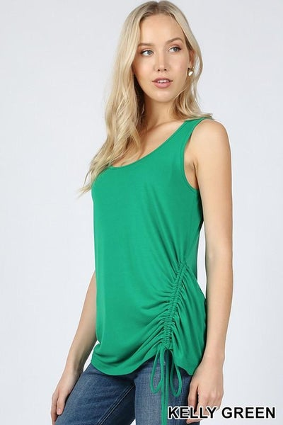 Ruched Sleeveless Tank