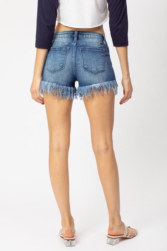 Hazel Fray Hem Shorts