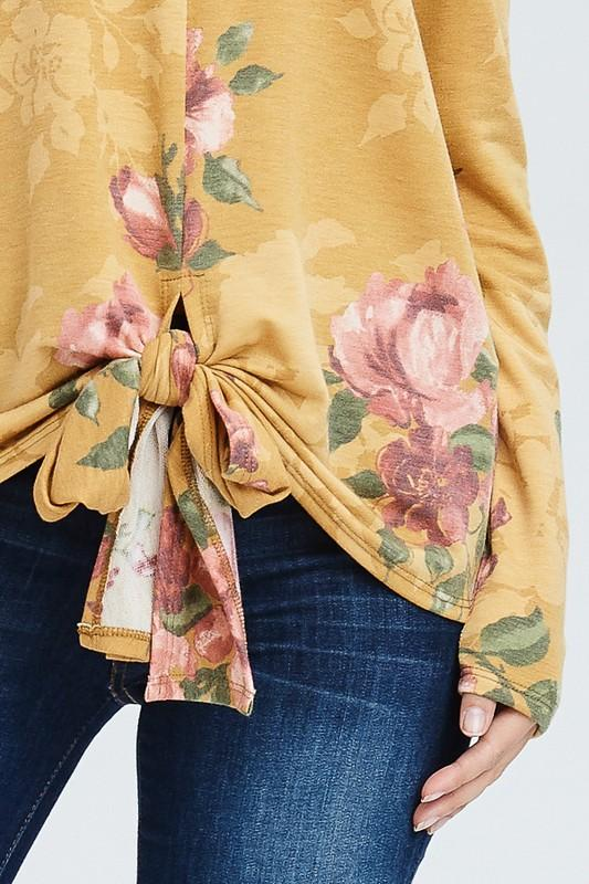 Floral Front Tie