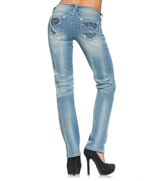 Jenna Crystal Straight Leg