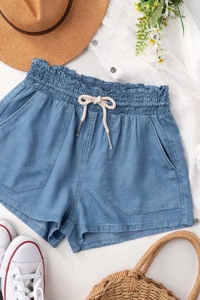 Rope Tencel Shorts