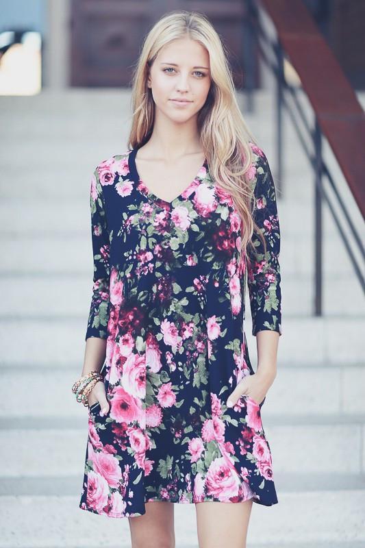 Monica Floral Dress