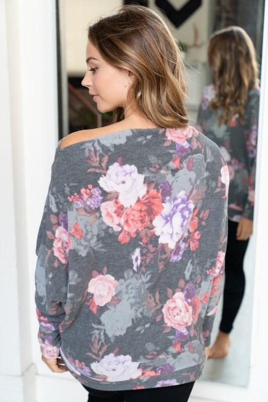 Winter Floral Top