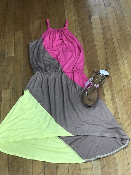 Pink/Taupe/Yellow Dress Rock N Roll