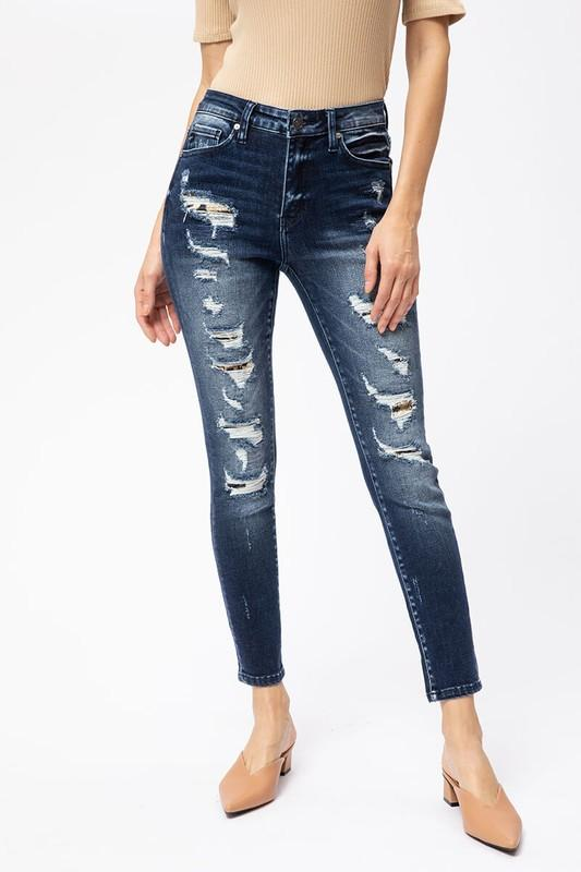 Leopard Patch Ankle Skinny