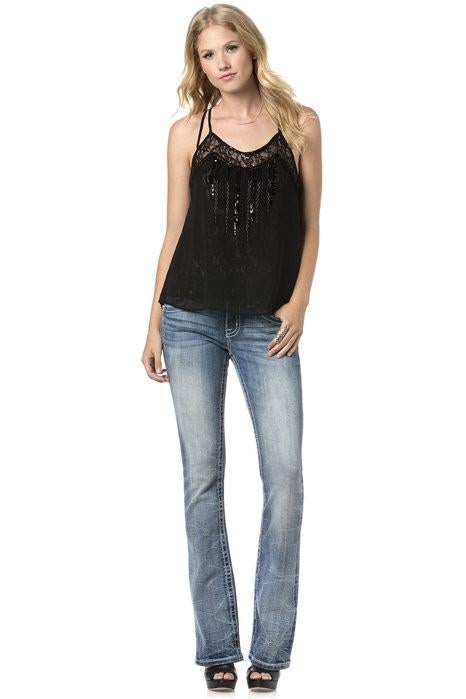Miss Me Power Play Sequin Cami