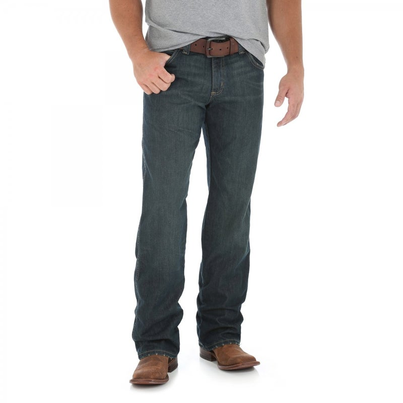 Worn Black Relaxed Straight