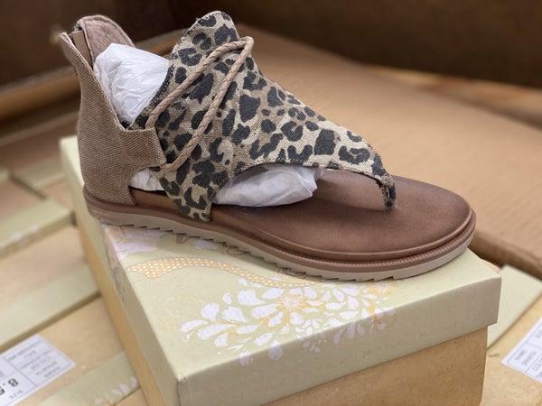 Leopard Sparta Sandals