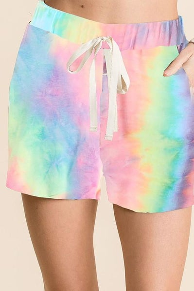 Let's Go Back Tie Dye Shorts