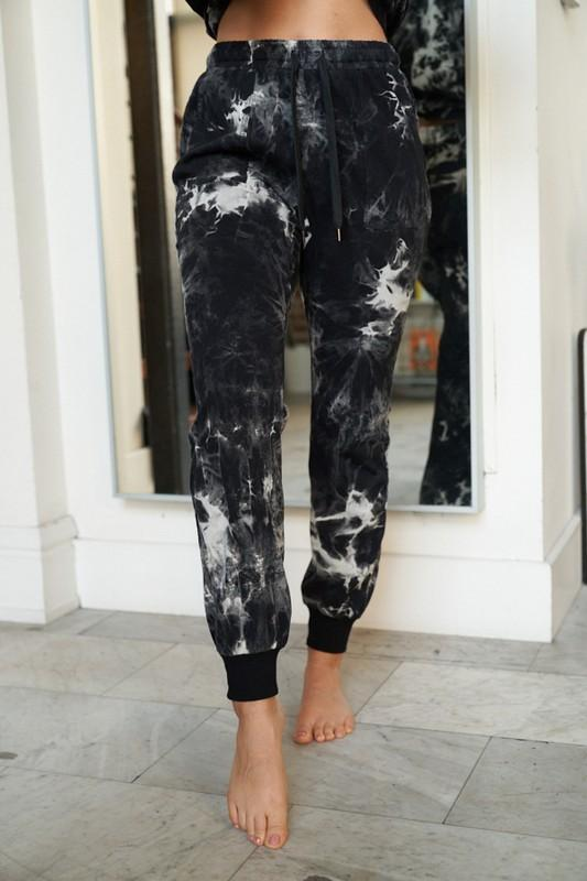 Black Marble Joggers
