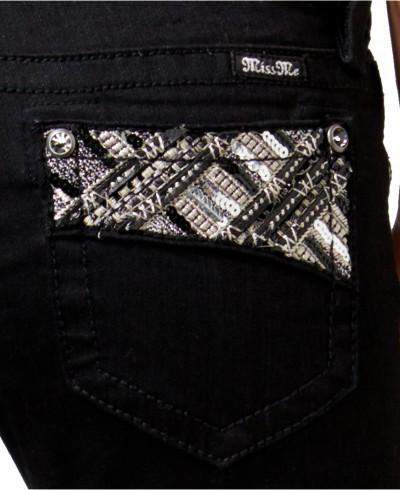 Black Aztec Embellished Skinny
