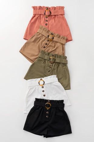Olive Paperbag Shorts