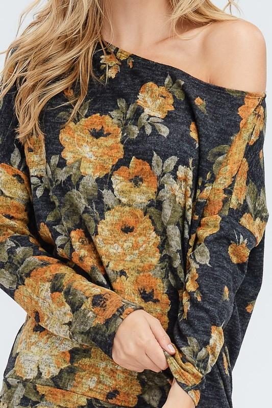 Floral Off The Shoulder