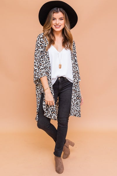 Living in Leopard Kimono