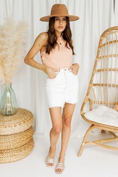 Long Summer Nights Denim Skirt