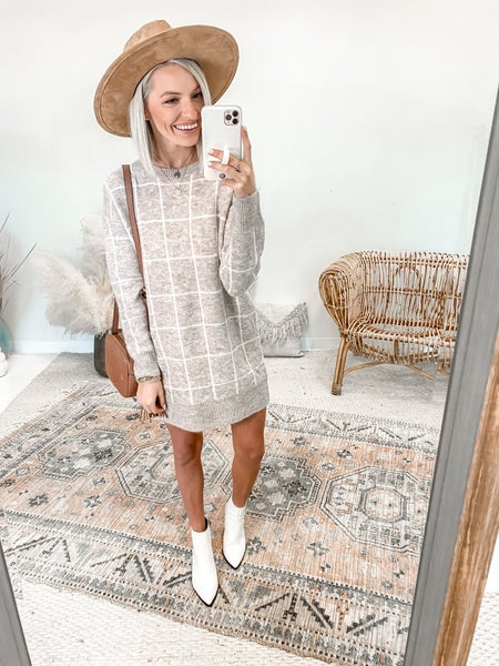 Check it Out Sweater Dress