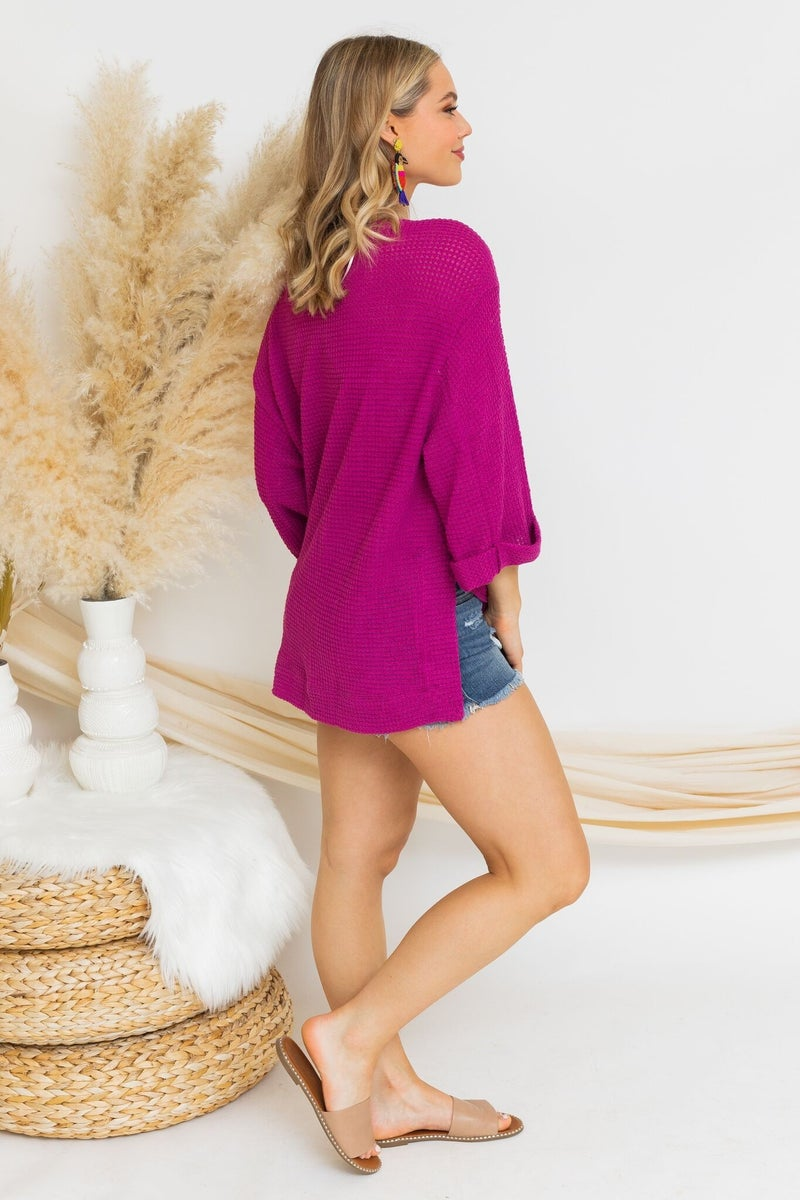 Weave the Way Knit in Berry