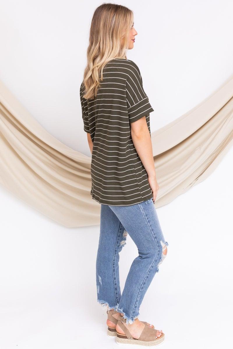 Stripe Down To It Top *Final Sale*