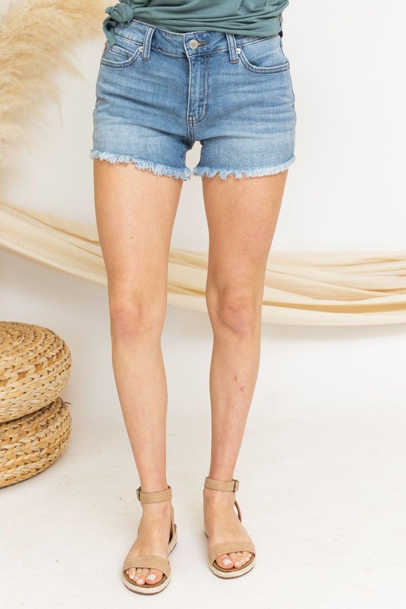 Denim on Denim Shorts